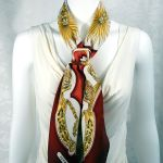Eperon d'Or HERMES Scarf with Boucle Anneau Horn Scarf Ring Carre de Paris