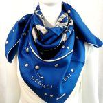 Hermes Vif Ardent Silk Scarf Blue