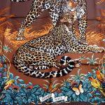 Jungle Love HERMES Silk Carre Brown