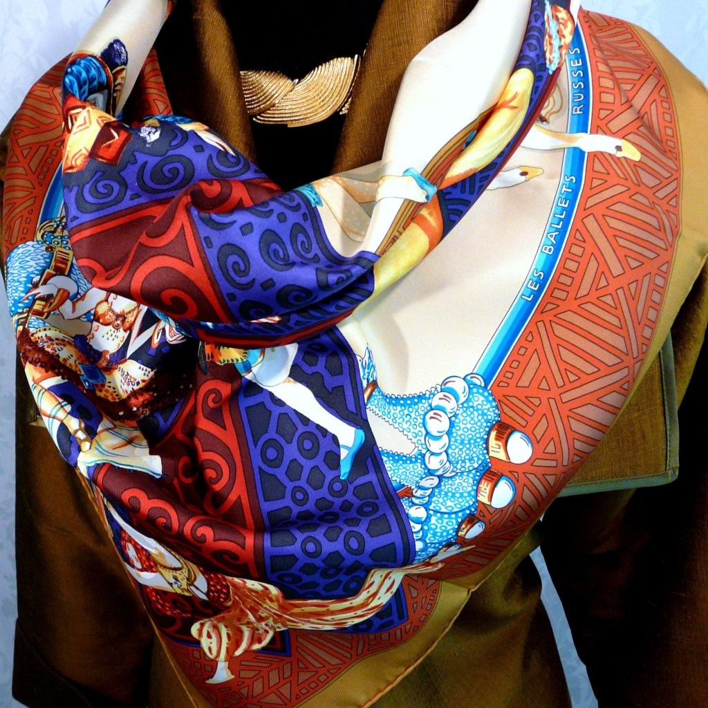 Les Ballets Russes HERMES 36 inch Silk Twill Carre
