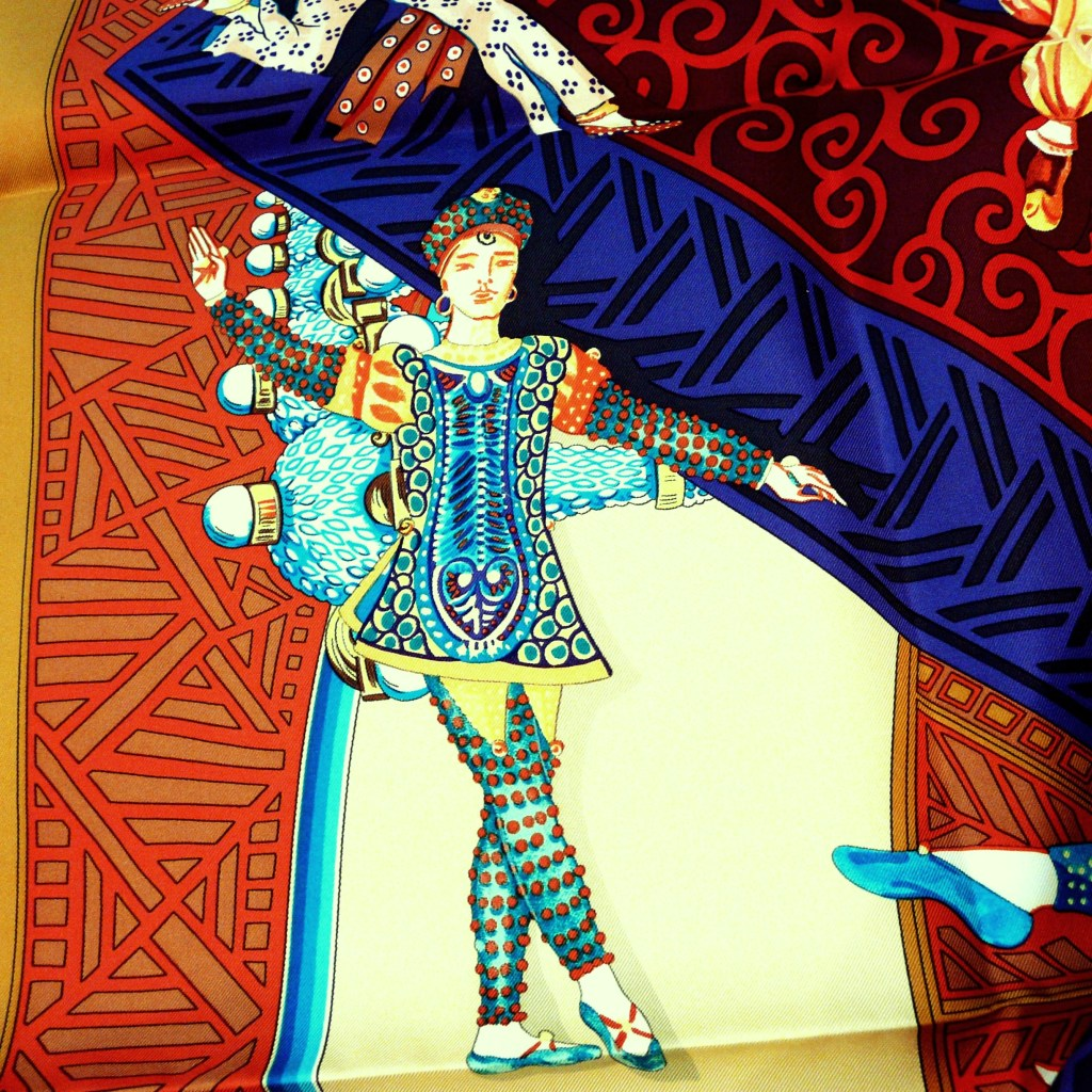Les Ballets Russes HERMES in Bold Earthtones and bright Blues