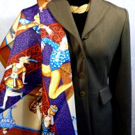 Les Ballets Russes HERMES worn with Hermes Riding Jacket