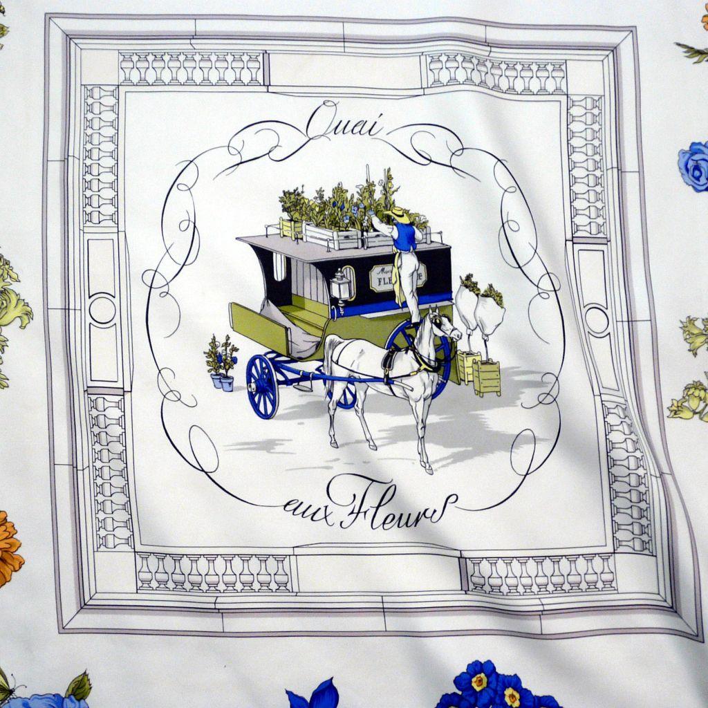Quai aux Fleurs HERMES Silk Scarf Early issue