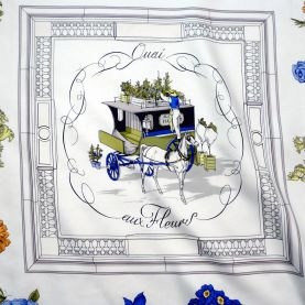 Quai aux Fleurs HERMES Silk Scarf Early issue