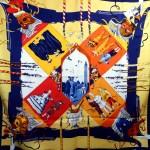 Carnaval de Venise HERMES de Watrigant 36 inch Scarf
