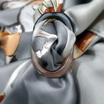 Grand Anneau Horn Scarf Ring with HERMES Jumping Silk Scarf