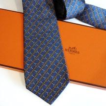 Vintage HERMES Tie 803 MA Blue