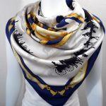 Le Bois de Boulogne HERMES Vintage Silk Shawl