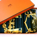 Mors et Gourmettes HERMES Shawl with box