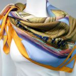 Rafales HERMES Scarf with Sail Boats