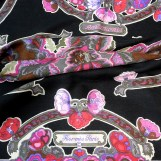 Anemones HERMES Cashmere Silk 55 inch shawl