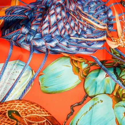 Jardin Creole HERMES Silk Twill Carre