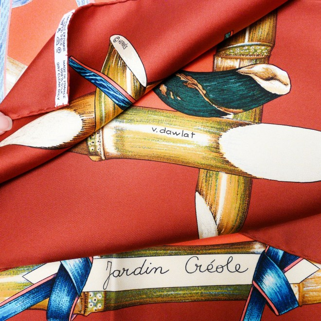 Jardin Creole Hermes Signature Care Tag
