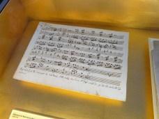 Original score, Mozart