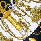 Authentic Hermes Silk Scarf Cliquetis