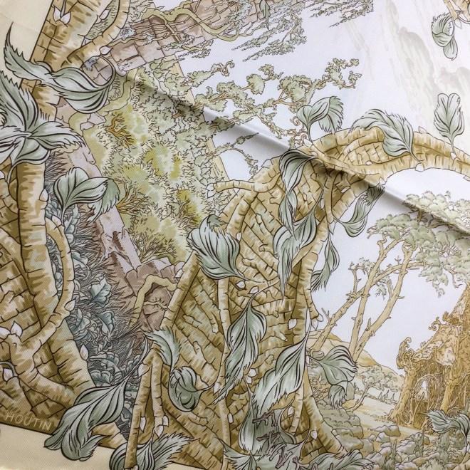 Fantaisie Pittoresque HERMES Silk Scarf_-12