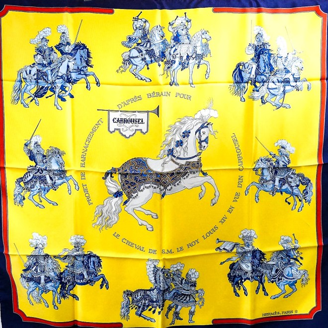 Carrousel HERMES Silk Scarf w-Box-4