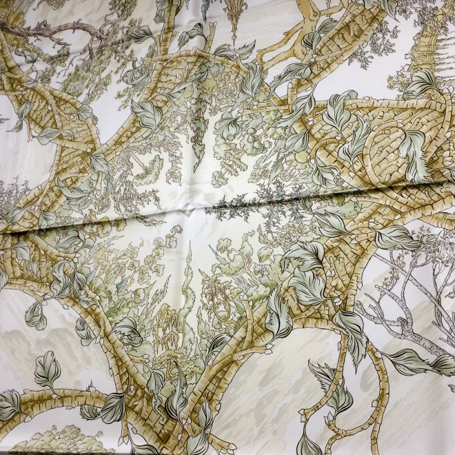 Fantaisie Pittoresque HERMES Silk Scarf_-9