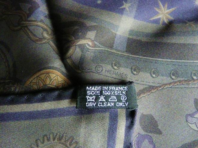 Cest La Fete HERMES 70 cm scarf care tag.JPG