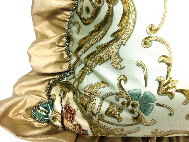 Cheval Turc Upcycled HERMES Silk Scarf Pillow-8 (2)