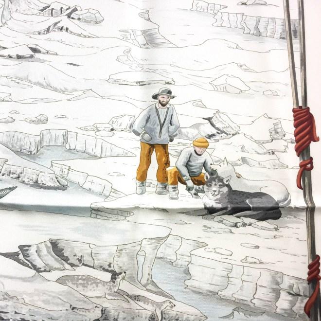 Hommage a l'Explorateur Sir Ernest Shackleton HERMES Grail Silk Scarf_-10