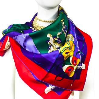 Le Carnaval de Venise HERMES Silk Scarf NIB-11