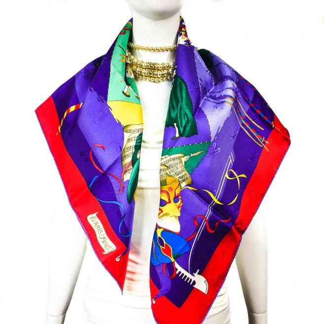 Le Carnaval de Venise HERMES Silk Scarf NIB-12