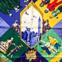 Le Carnaval de Venise HERMES Silk Scarf NIB-4