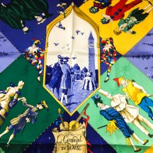 Le Carnaval de Venise HERMES Silk Scarf NIB-7