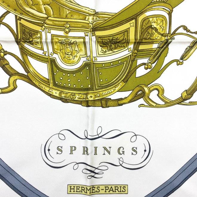 Springs HERMES Silk Scarf_-6