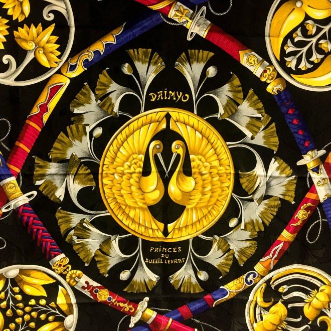 Daimyo - Princes Du Soleil Levant HERMES Silk Jacquard Scarf-7.jpg