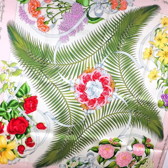 Opera Flowers Special Metropolitan Opera Edition VTG HERMES Silk Scarf Unworn RARE-6
