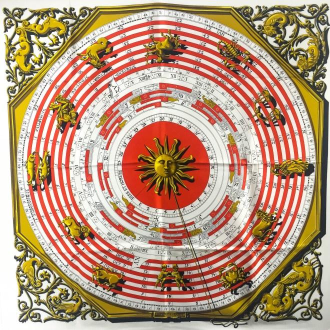 Dies et Hore Astrologie HERMES Silk Scarf (6)