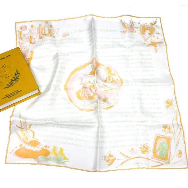 La Perruche HERMES Silk Pocketsquare-3
