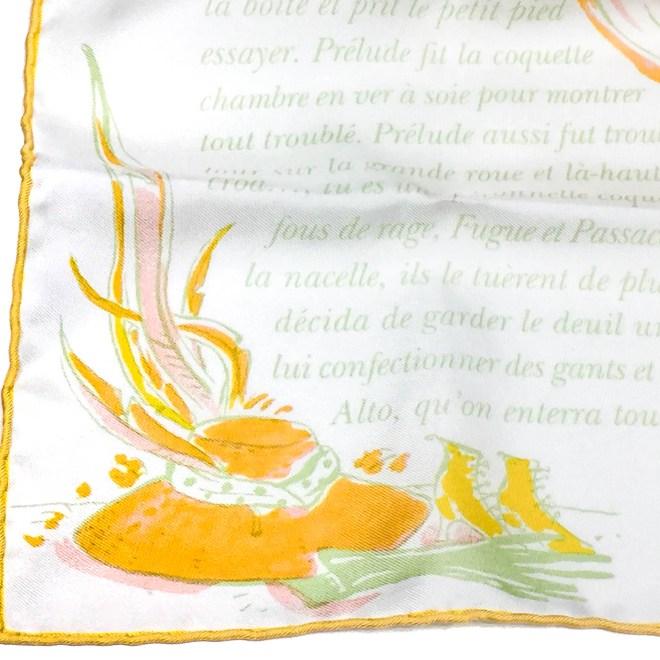 La Perruche HERMES Silk Pocketsquare-5
