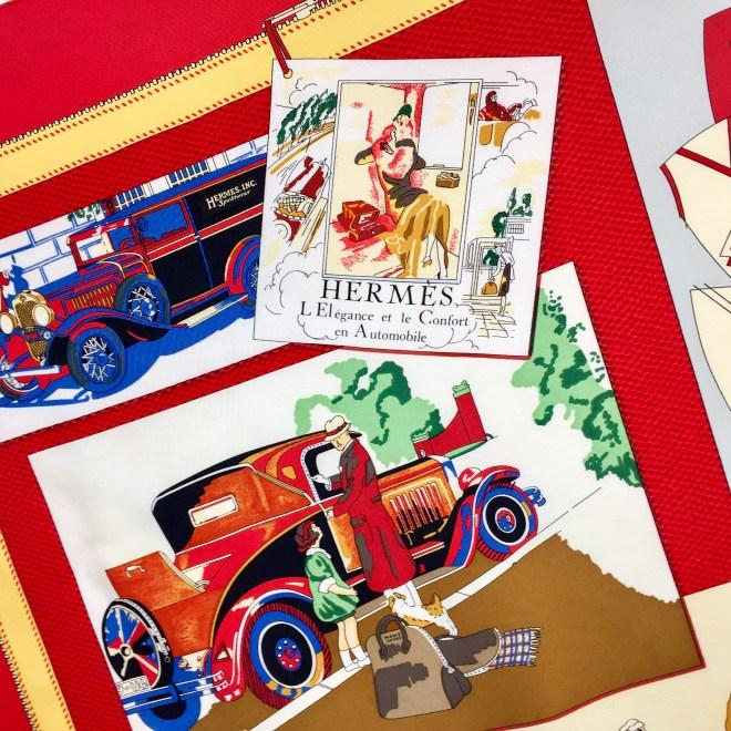 L'Elegance et Le Confort en Automobile HERMES Silk Scarf RARE-3