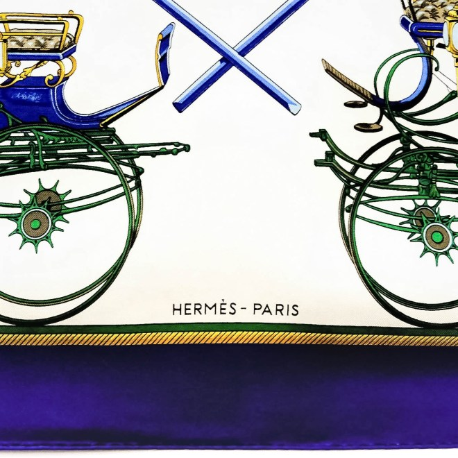 Les Voitures a Transformation HERMES Silk Scarf-7