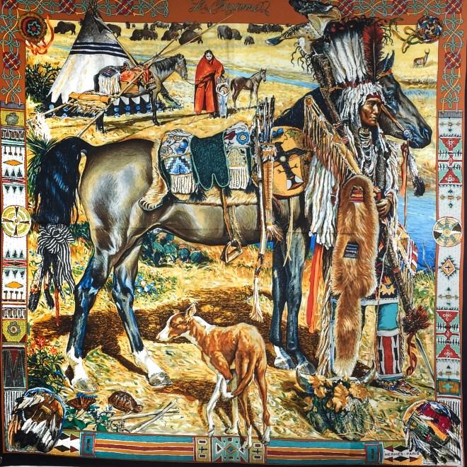 Les Cheyennes HERMES Silk Scarf RARE (1).jpg