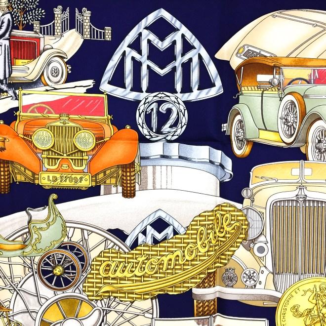 Hermes Silk Scarf Automobile_-11