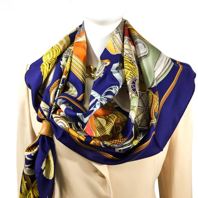 Hermes Silk Scarf Automobile_-3