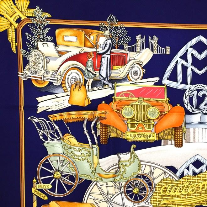 Hermes Silk Scarf Automobile_-6