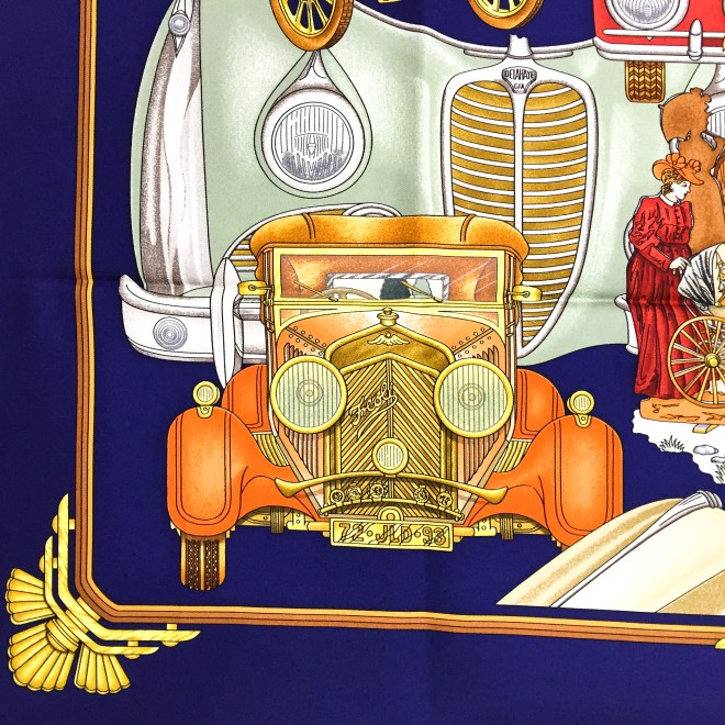 Hermes Silk Scarf Automobile_-8
