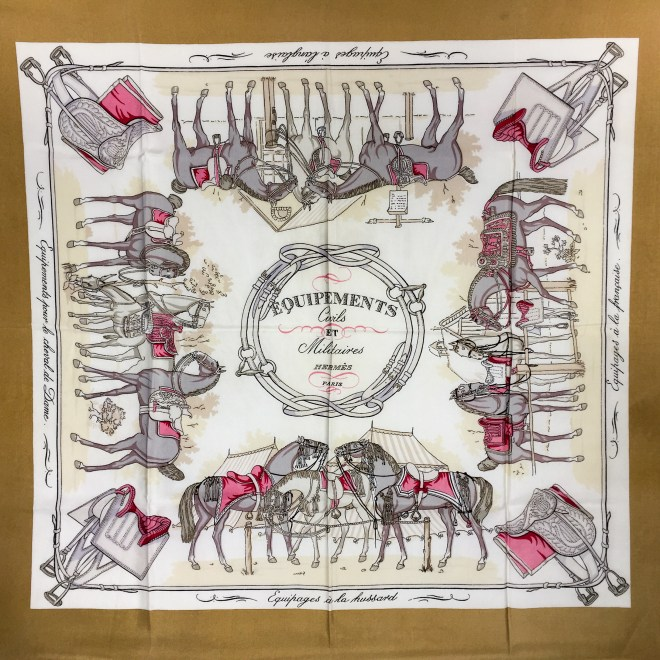 Equipements Civils et Militaires HERMES Silk Scarf Extremely RARE
