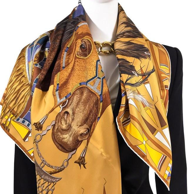 Hermes Silk Scarf Apparat des Plaines-4