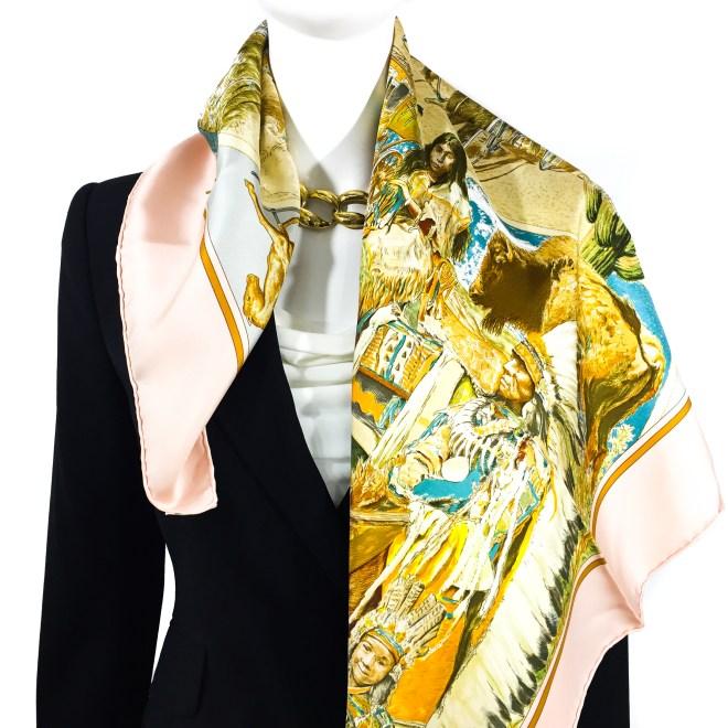 Hermes Silk Scarf Concours d'Elegance GRAIL-4