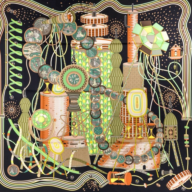 Hermes Silk Scarf Le Laboratoire du Temps NIB-5.jpg