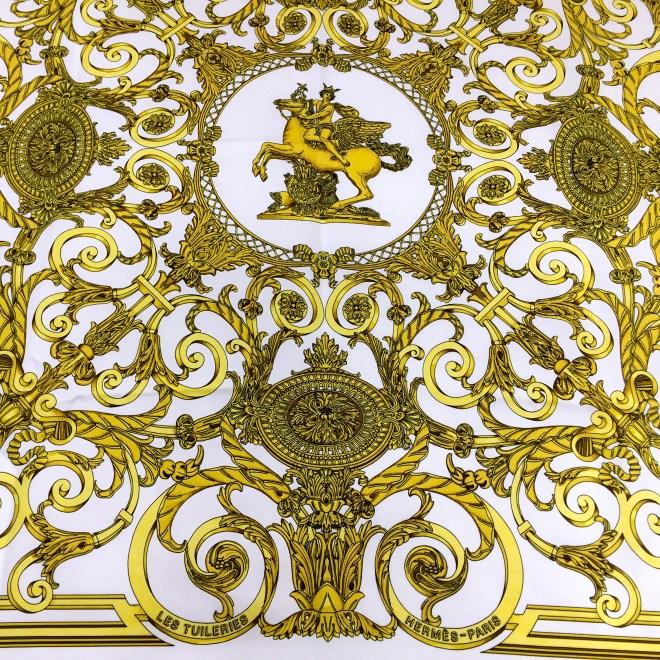 Hermes Silk Scarf Les Tuileries Cream-3.jpg