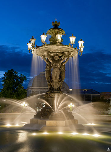 US Capitol Bartholdi Fountain