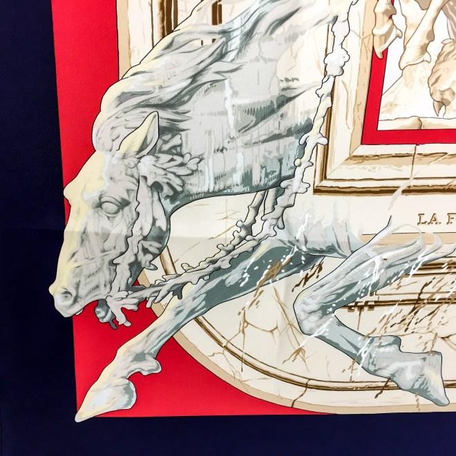Hermes Silk Scarf La Fontaine de Bartholdi-3