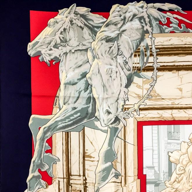 Hermes Silk Scarf La Fontaine de Bartholdi-4